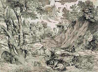 St Jerome in the Wilderness ; Titian and Giovanni Britto; c 1530; 148-1982