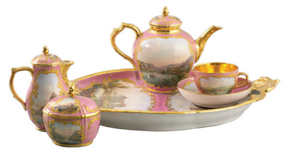 Berlin KPM Tête-a-tête tea service