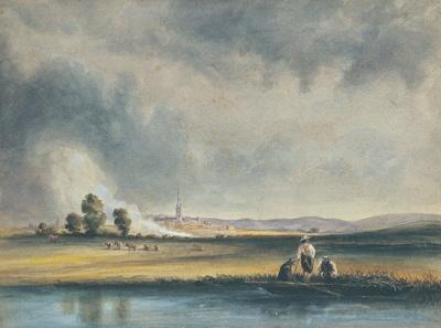 Landscape With Drifting Smoke, Salisbury ; Henry Bright; 314-195X