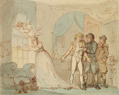 Where Poverty Comes in at the Door, Love Flies out of the Window ; Thomas Rowlandson; 13-1950