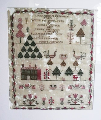 Embroidery sampler, 1018