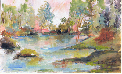 Water Colour - E Buttimore; 1069