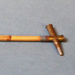 Swagger stick made from bamboo and two cartridges; 224/2