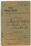 Ration Book in the name of K Wilkinson; 653