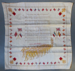 Souvenir handkerchief from WW1; 1914-1918; 2293