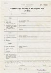 Certified copy - Birth Certificate of Jane Agnes Russell; 510