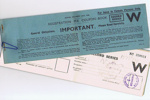 Social Security Registration Fee Coupon Book; 762/10
