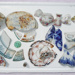 Assorted broken household china pieces; 1068