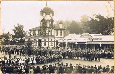 Peace Celebrations outside Cambridge Post Office, June 1919; 1086