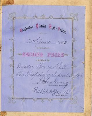 School Prize Book Plate; 427