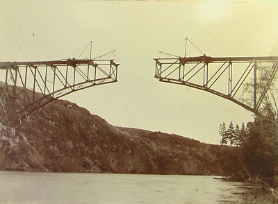 Victoria Bridge under construction; 1103