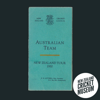 Itinerary: Australia in New Zealand, 1950; New Zealand Cricket Council; 1950; 2016.12.8