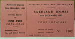 Raffle Ticket: Auckland Games, 28th December 1957.  ; 1957; 2017.32.90