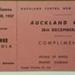 Raffle Ticket: Auckland Games, 28th December 1957.  ; 1957; 2017.32.90