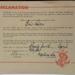 Printed Ephemera: Proclamation admitting Eris Paton into the