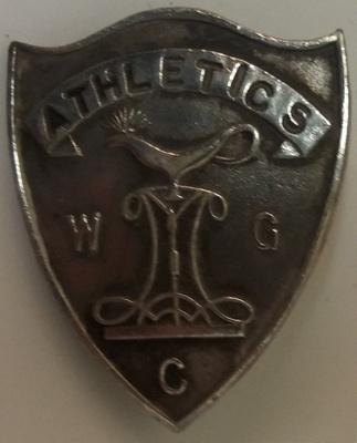 Badge: Wellington Girls College Athletics ; c1952; 2017.36.79