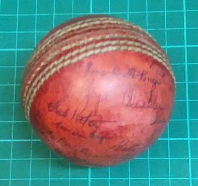 Match Ball: Game ball signed by 1954 New Zealand women's team who toured England. ; Stokes McGown LTD; circa 1954; 2017.32.3