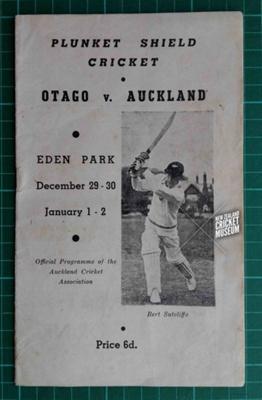 Programme: Otago v Auckland, Plunket Shield, 1950-51; Auckland Cricket Association; 1950; 2015.11.2