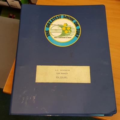 Papers: World Championship Cricket Managers Handbook; Melbourne Cricket Club; Australian Cricket Board; Victorian Cricket Association; c1985; 2017.7.1