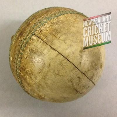1982 New Zealand v Australia, Eden Park ODI ball; Kookaburra; c1982; TMPACC.14.01.03