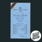 Itinerary: Marylebone Cricket Club in New Zealand, 1922-23; New Zealand Cricket Council, W & T Ltd; 1922; 2016.12.9