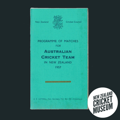 Itinerary: Australia in New Zealand, 1957; New Zealand Cricket Council, W & W Ltd; 1957; 2016.12.3
