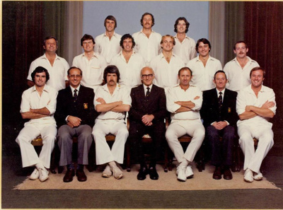 Photo: Wellington Cricket Team 1979-80; P. H. Jauncey Studios; 1979-1980; 02/9