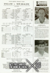Souvenir Scorecard: England v New Zealand, Lord's, 1999; Marylebone Cricket Club; July 1999; 2012.100.7