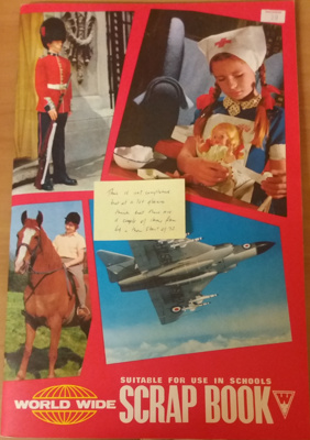 Scrapbook: Trish McKelvey 1969 England tour of NZ and 1972 letter.  ; Trish McKelvey; C.1969; 2018.5.3