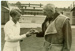 Photo: C.B. Fry giving tips to Ann Mitchell, 1954; The Sport and General Press Agency Ltd.; 1954; 2018.5.15