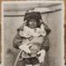Postcard: Postcard of the Manneken Pis in Brussels dressed up. ; C.1954; 2017.32.124