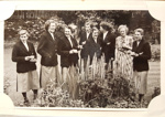 Photograph: Members of NZ women's team in a garden. Date Unknown. C.1950s. ; A.Anning; Circa 1950s ; 2017.32.12