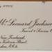 Business Card: Mr Leonard Jackson, Travel & Service Officer - BNZ; C.1954; 2017.32.122