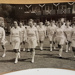 Photograph: NZ womens' team walk onto the pitch during their tour of England. Date unknown c.1950s. ; The Sports and General Press Agency Ltd; C.1950s; 2017.32.48
