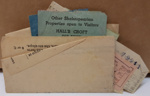 Telegram: A telegram to Eris Paton and Joyce Clothier  from the Scottish Patrons with transit and museum tickets enclosed. ; 1954; 2017.32.114