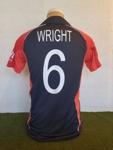 Shirt: Luke Wright's England World Cup shirt, 2011; Adidas; 2011; 2017.5.2