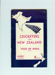 Tour Guide: Cricketers From New Zealand - Tour of India 1955-56; Sport & Pastime Publications; 1955; NCM289