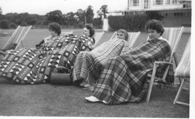 Photo:  Rugging up in Surrey, 1966; 1966; 2018.5.41