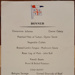 Menu: Dinner menu from on board the Ruahine 16 April 1954; 16 April 1954; 2017.32.80
