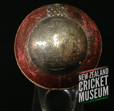 1956 New Zealand v West Indies, Eden Park Test ball; 1956; TMPACC.14.01.01