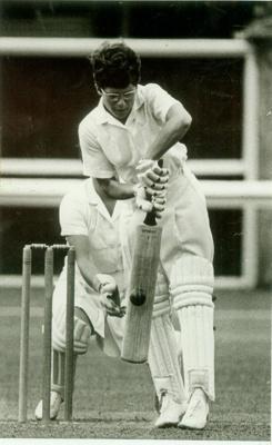 Photo: Trish McKelvey batting, New Zealand v England, 1969.; Dominion and Sunday Times; 1969; 2018.5.45