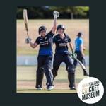 Digital Photo: WHITE FERNS' Rachel Priest & Amy Satterthwaite celebrate an ODI win v England, 2015; Mike Lewis; 2015; 2016.19.4