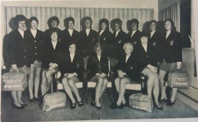 Postcard: 1973 New Zealand Women's World Cup Team. ; Air New Zealand; C.1973; 2017.36.37