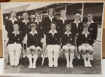 Photograph: NZ Women's team in dress uniform. Date unknown c.1950s ; Lambert Weston & Sons Ltd; Circa 1957-58; 2017.32.23
