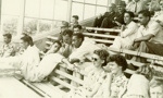 Photo: West Indian team members, officials, and spectators watching play, West Indies v Central Districts, Sportsground, Palmerston North, 20, 21 February 1952; Unknown; FEB 1952; 2008.52.94
