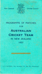 Itinerary/Fixture List Card: Programme of Matches for Australian Cricket Team in New Zealand 1957; New Zealand Cricket Council; 1957; 2008.52.20