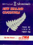 Programme: Official Souvenir - New Zealand Cricketers Tour of India 1955-56; The Board of Control for Cricket in India; 1955; 2008.52.4