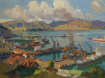 Lyttelton from the Bridle Path, Thomson, Sydney Lough, 1937, 69/115