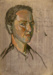 Unfinished Self Portrait c. 1948; Melvin Day; c. 1948; 2015.007
