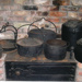 Colonial Iron Cooking Pots ; KJ131